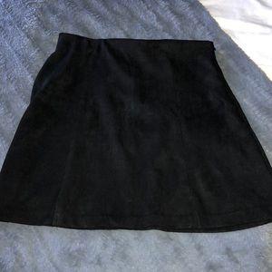 Brandy Melville suede mini skirt